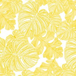 fronds silhouette monsteria mix mustard white