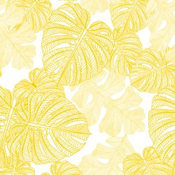 fronds silhouette monsteria mix white mustard twotone