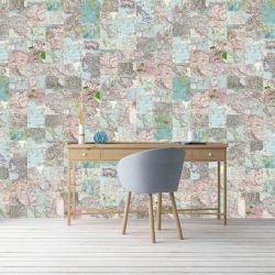 photographic collages vintage map insitu