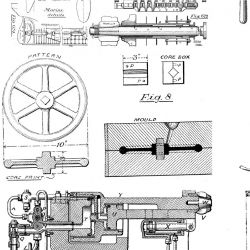 photographic collages vintage mechanical blueprint detail 1