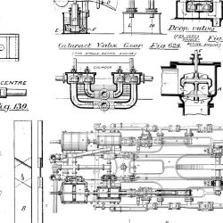 photographic collages vintage mechanical blueprint detail 2