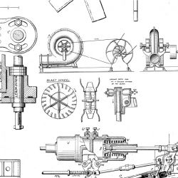 photographic collages vintage mechanical blueprint detail 3