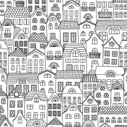 cities houses rows allover details