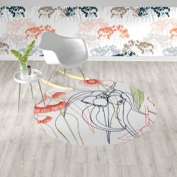 bushland blooms concept rug and wallpaper