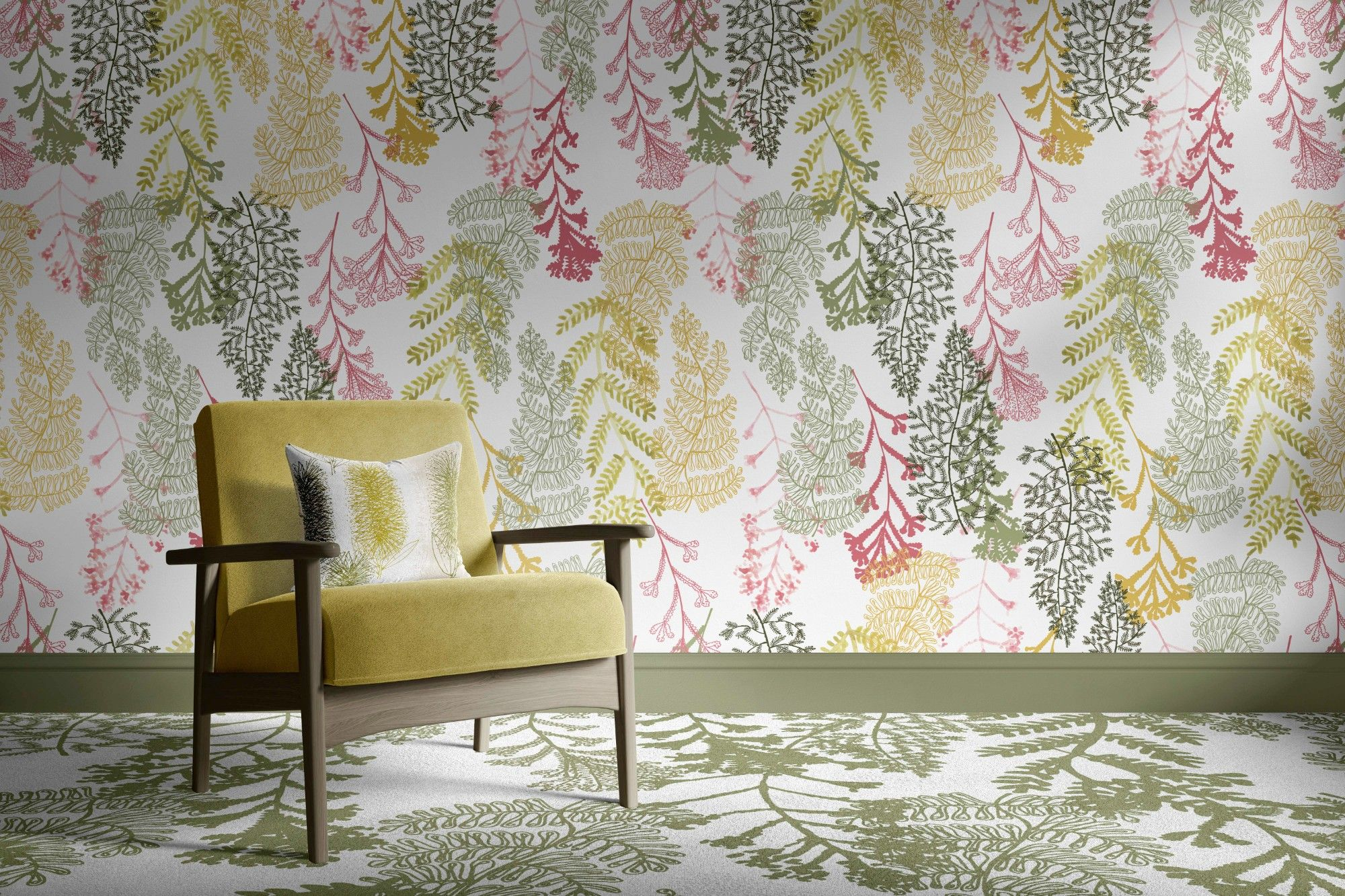 bushland blooms concept upholstery carpet and wallpaper