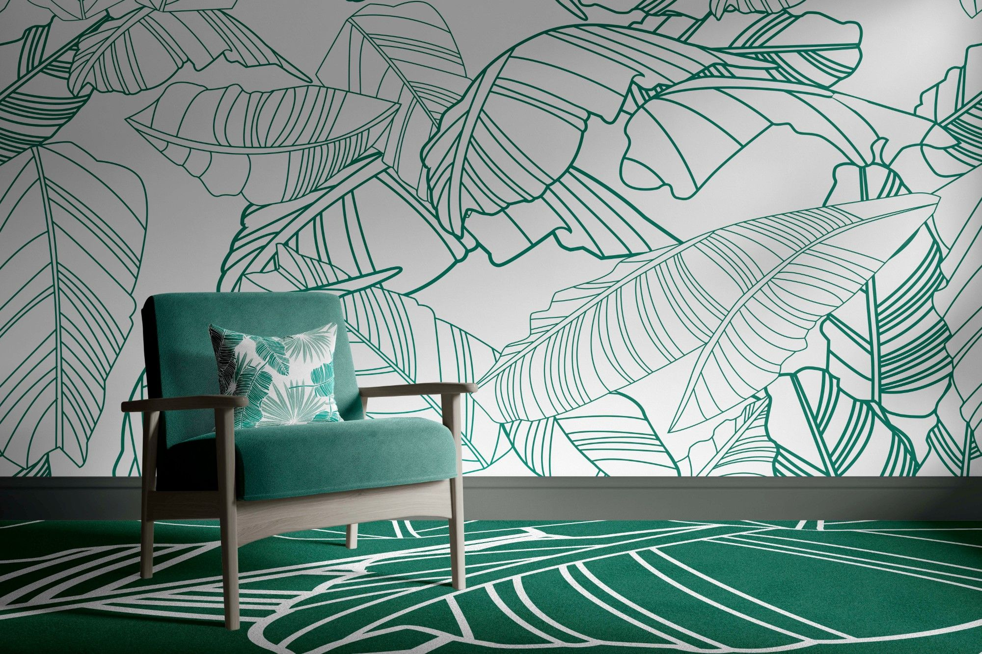 fronds silhouette concept carpet upholstery and wallpaper