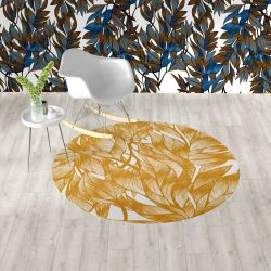 fronds silhouette concept rug and wallpaper