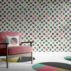 geometric graphics concept wallpaper carpet and upholstery