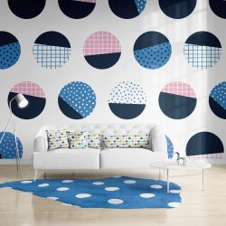 geometric graphics concept wallpaper upholstery rug and curtain