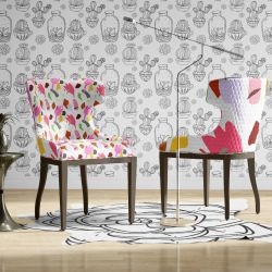 quirky concept wallpaper upholstery and rug