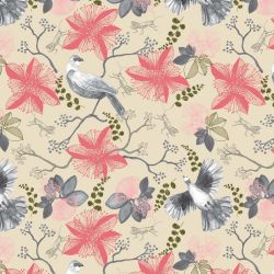 bushland blooms floral dove grey