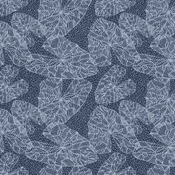 the natural jungle palm print indigo tones