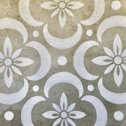 the secret garden garden tiles on metallic gold