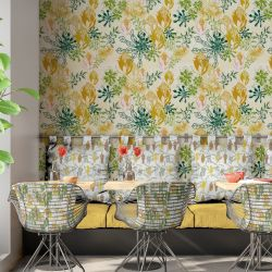 bushland blooms concept hospitality wallpaper upholstery