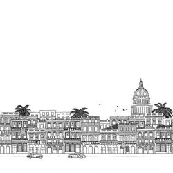 hand drawn cities havana border