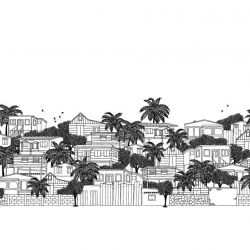 hand drawn cities trinidad border
