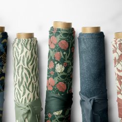 woodblock florals fabric rolls