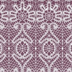 lace spiral  white plum
