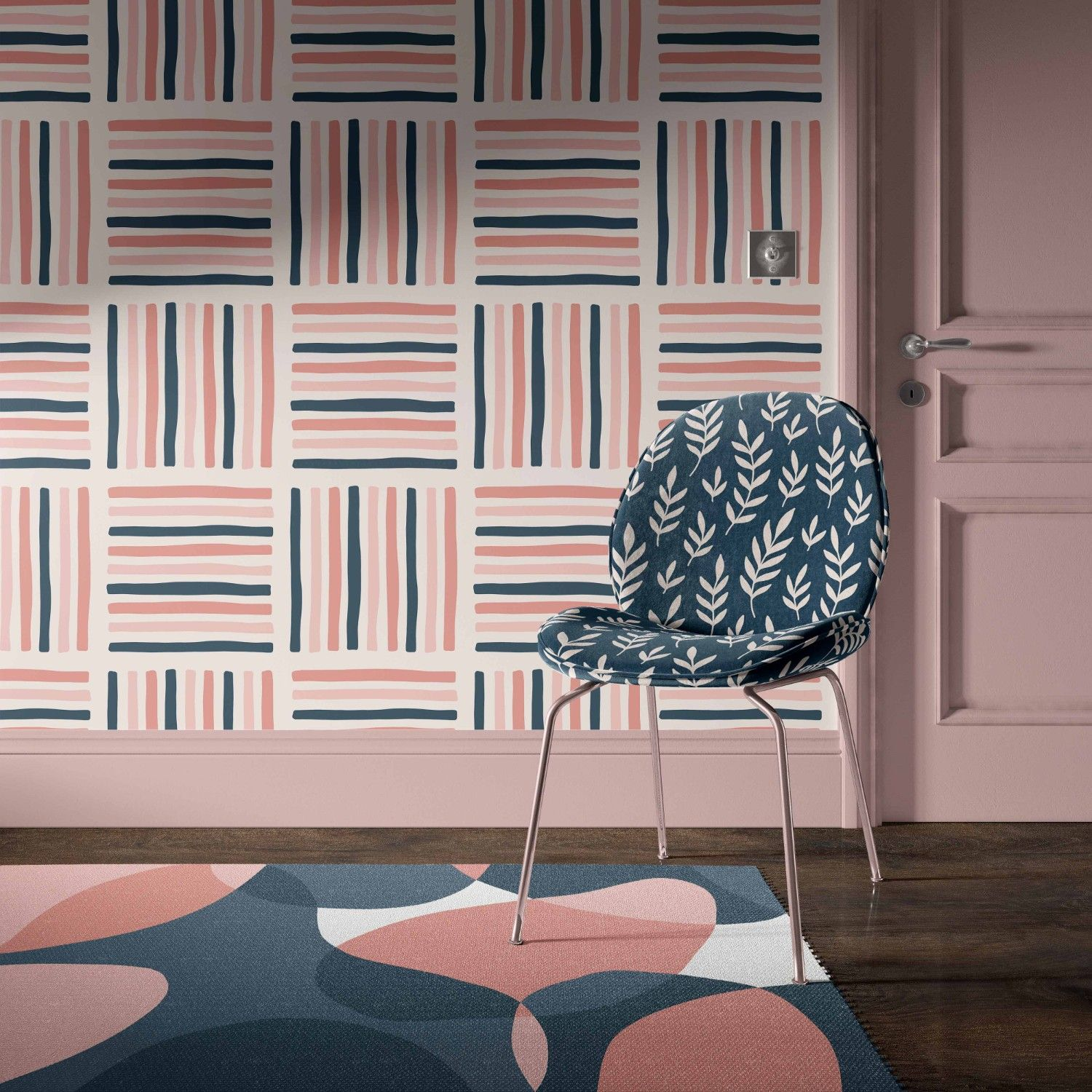 blooming impressions concept rug wallpaper chair