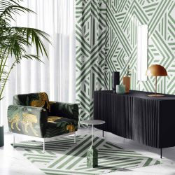 jungle playground concept armchair wallpaper rug