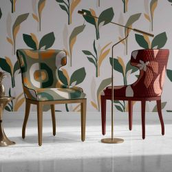 mediteranean notions concept wallpaper chairs