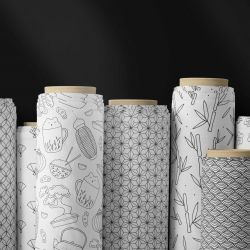 japanese secrets concept fabric rolls