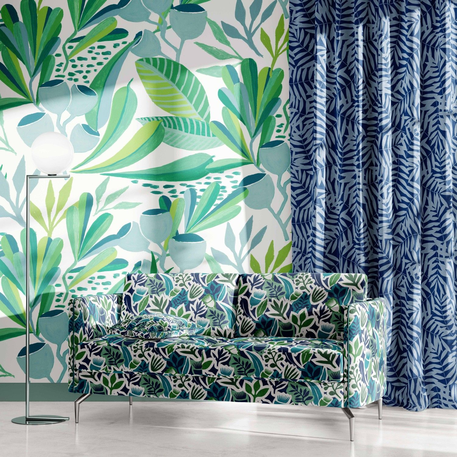 coastal concept wallpaper curtain upholstery