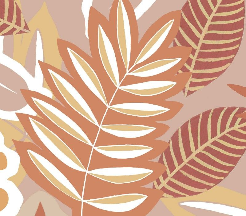 coastal foliage ochre detail