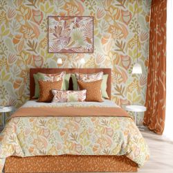 coastal concept bedspread wallpaper curtain
