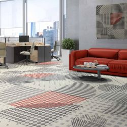 geometric twist concept carpet artwork