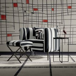 geometric twist concept upholstery wallpaper rug