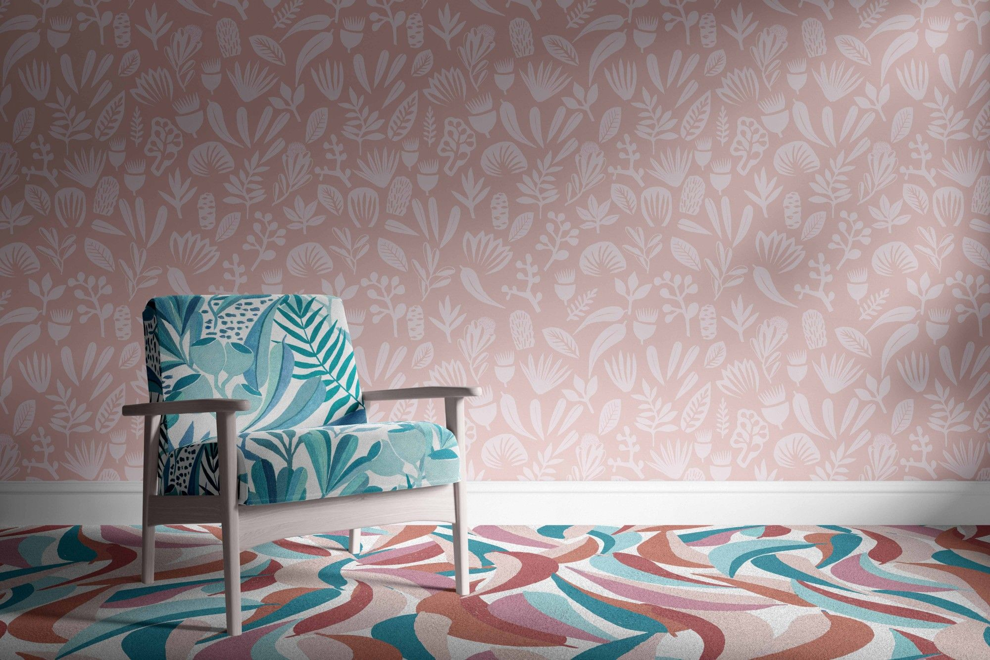 coastal concept wallpaper carpet upholstery