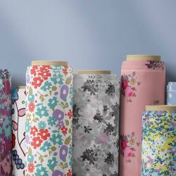 micro florals concept fabric rolls