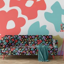 micro florals concept wallpaper upholstery