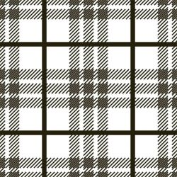 back to basics tartan black and white