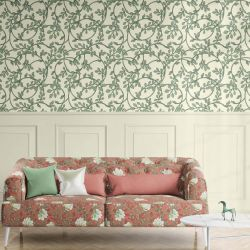 woodblock florals concept wallpaper upholstery