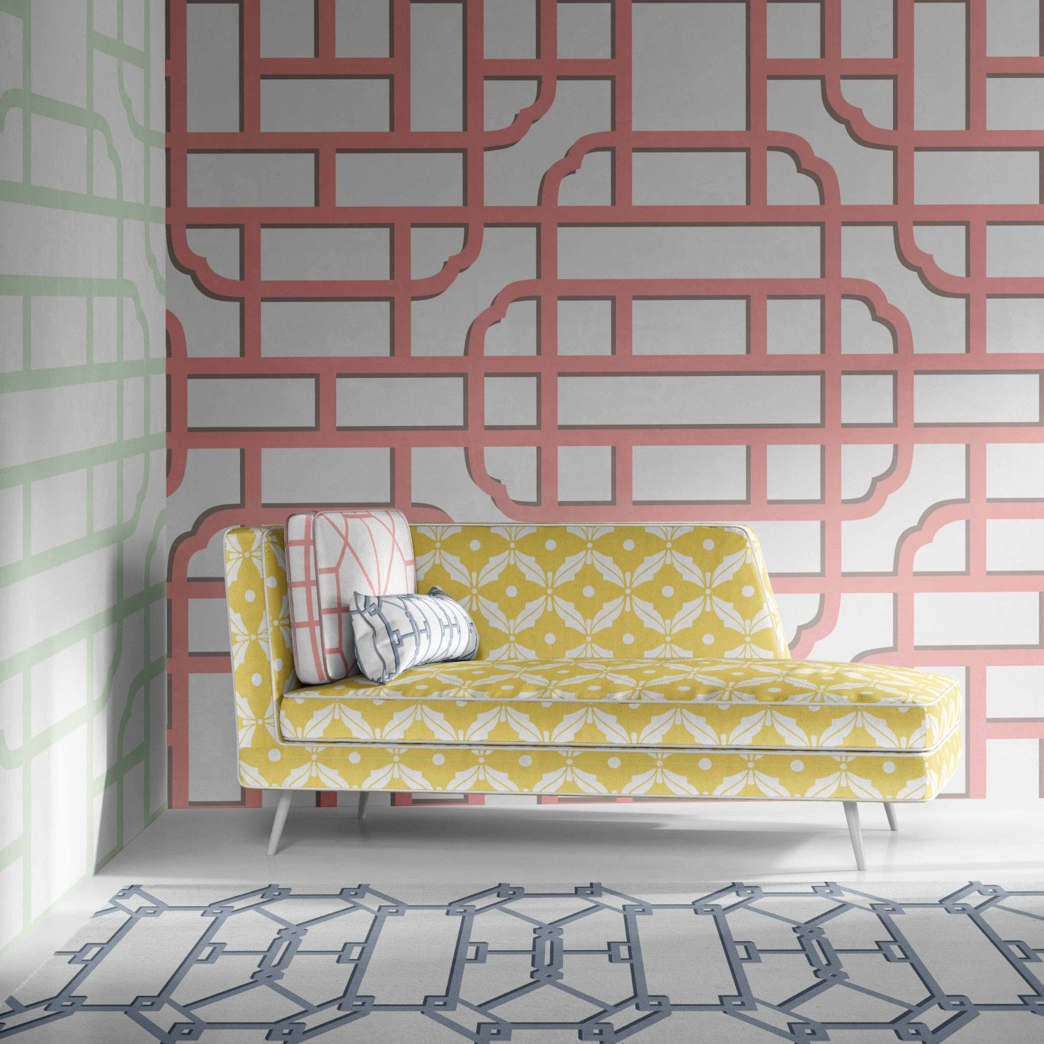 lattice concept wallpaper rug upholstery