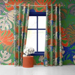 florale concept curtain wallpaper