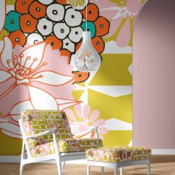 florale concept upholstery wallpaper