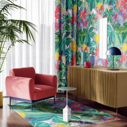florale concept wallpaper curtain rug