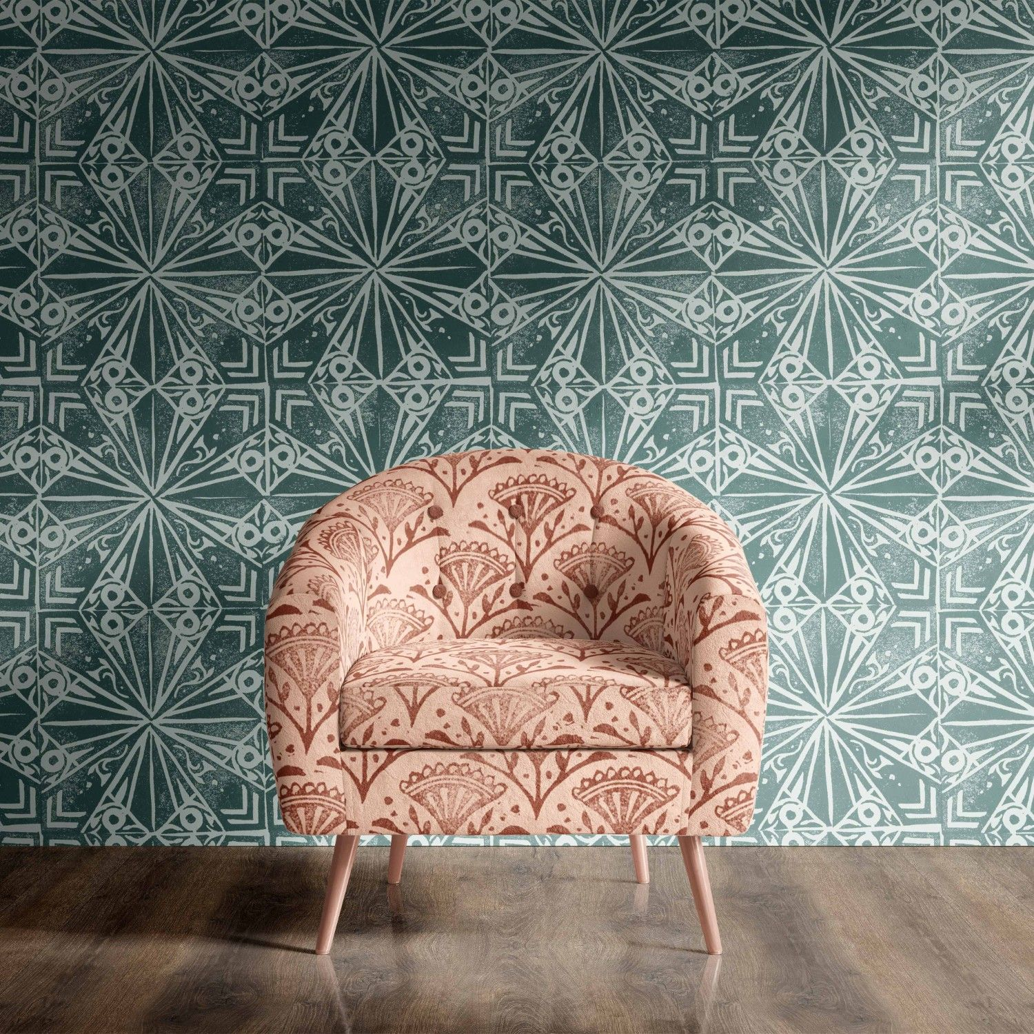 printers block concept wallpaper upholstery