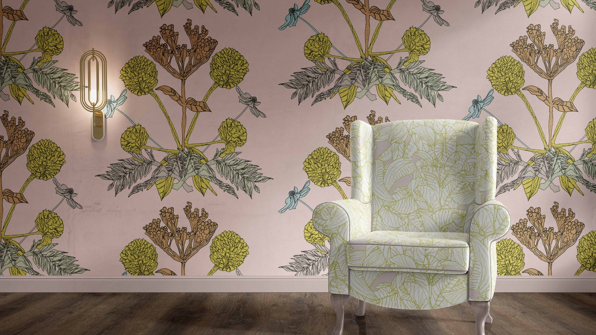 winter garden concept wallpaper upholstery