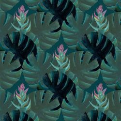 audreys garden tropical leaves turquoise