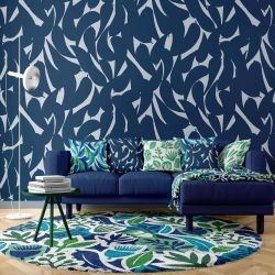 coastal concept wallpaper upholstery rug