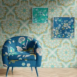 mexicana concept wallpaper artwork upholstery