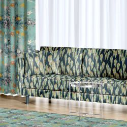 bushland blooms concept rug upholstery curtain