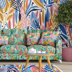 fabulous florals concept rug upholstery wallpaper