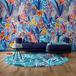 fabulous florals concept wallpaper rug upholstery