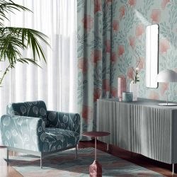 botanical waves concept armchair upholstery rug curtain wallpaper