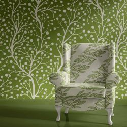 botanical waves concept armchair wallpaper